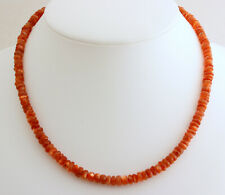 Natur Sonnenstein Kette Edelsteinkette facettierte 1A Qualität Halskette 45 cm
