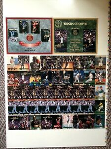 '93 Front Row Premium The Gold Collection Uncut Promo Sheet~Griffey Jr/Grandmama