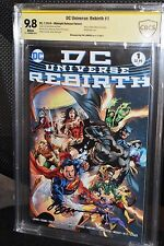 DC Universe Rebirth #1 CBCS SS 9.8 Midnight Reis Variant Justice League CGC