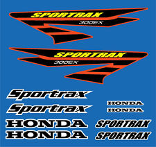 300ex Decals Stickers 10pc kit TRX Sportrax Gen 3 Black / Yellow / Red graphics