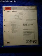 Sony Service Manual TC WR808M Cassette Deck (#2533)