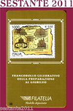 TESSERA FILATELICA FRANCOBOLLO PREPARAZIONE GIUBILEO 1999 B48