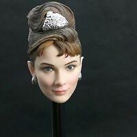 "1/6 Audrey Hepburn Breakfast at Tiffany's Head Carving Model F 12"" Female Body"