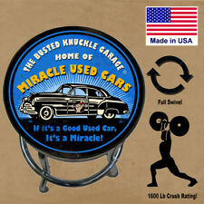 Workshop Bar Stool Busted Knuckle Garage / Full Swivel USA Made Used Car Dealer