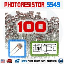 100PCS 5549 5MM 45K-140K Photoresistor Light-Dependent Resistor Sensor GL5549 US