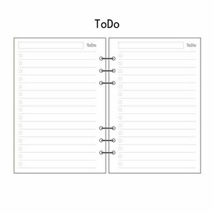 A5/A6/A7 To Do Planner Diary Insert Refill Schedule Organiser 45 Sheets Note #UK