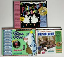 Lot 3 SANDRA BOYNTON Books w/ CDs One Shoe Blues Blue Moo Philadelphia Chickens