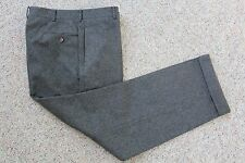 POLO RALPH LAUREN Gray Flannel CASHMERE WOOL Italy Luxury Pants Trousers 33 32 3