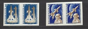 HUNGARY - 1381-1382 - SE-TENANT IMPERF PAIRS - MNH - 1961 - 1ST MAN IN SPACE