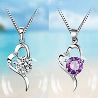 925 Sterling Silber Anhänger Charm Halskette Silberkette Damenkett Zirkonia - 17