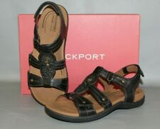 NEW Women's Cobb Hill Revsoothe Size 6 Medium, Black Comfortable Leather Sandals