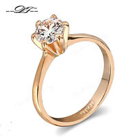 Cubic Zirconia Wedding Finger Rings 18K Rose Gold/Platinum Plated Women Jewelry
