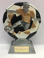 Football Trophy - Player Bust Out + FREE Engraving