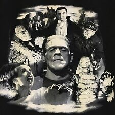 Dracula Frankenstein Medium T Shirt Mummy Horror Gore Wolf Movie Halloween