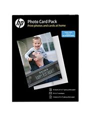"HP Photo Card Pack 10 Sheets 5x7"" Photo Paper & Envelopes 5 sheets 4""x6"" SF791A"