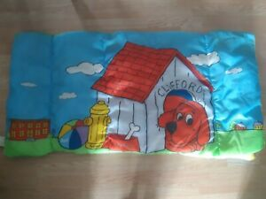 "Vintage Clifford Big Red Dog Sleeping Bag 90's 28"" x 56"" Red Kids Scholastic"