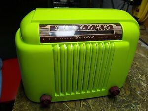 Bendix 526b Vintage Bakelite Tube Radio