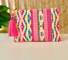 Handmade textile clutch