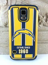 San Diego Chargers 3D Impact Hard+Rubber Hybrid Cover Case Samsung Galaxy S5 SV