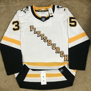 Adidas Tristan Jarry Pittsburgh Penguins Reverse Retro NHL Jersey White 54