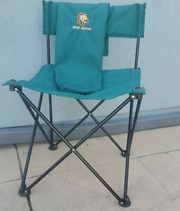 MGM Grand Folding Green Canvas Blk Metal Frame Director's Chair with Storage Bag