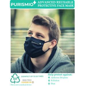 Purismio◊ Advanced Reusable Protective Fashion Face Mask - Black