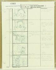 Beetlejuice Original Hand Drawn Storyboard Animation Sketch Page 3 (2-4)