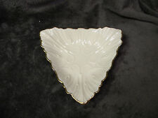 Lenox Triad Collection Triangle Nut Candy Dish Discontinued 1980'S Platinum Trim