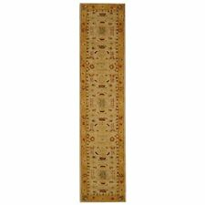 Ivory And Gold Safavieh Wool Carpet Runner 2' 3 x 18'