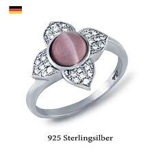 Echte Edelstein-Ringe aus Sterlingsilber mit Cabochon für Muttertag