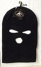Black Ski Mask Beanie 3 Hole Knitted Cap Hat Warm Face Winter Snow Unisex
