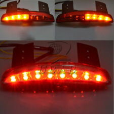 Chopped Fender Edge LED Tail Light Turn Signals Smoke Harley Sportster 883 Moon