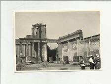 91884 FOTOGRAFIA FOTO ORIGINALE POMPEI SCAVI PALAZZO DI GIUSTIZIA 1960
