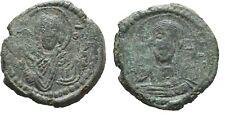 Ancient Byzantine 1068-1071 Romanus Iv Follis Christ/Madonna #2