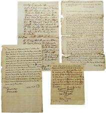 1801 Algeciras - AMERICAN BRIG ELIZA TAKEN BY PRIVATEERS - Manuscript Trial Docs