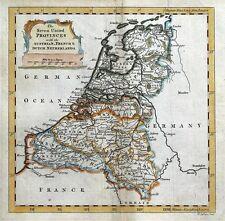 NETHERLANDS, SEVEN UNITED PROVINCES Thomas Jefferys original antique  map c1750