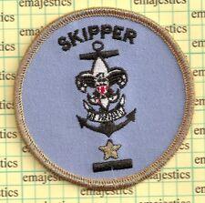 BSA SEA SCOUT SKIPPER POSITION UNIT LEADER AWARD OF MERIT GOLD MYLAR STAR