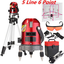 5 Lines 6 Points Professional Waterproof Laser Level Red Automatic Level 360°
