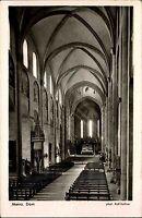 MAINZ Rheinland-Pfalz AK 1955 Dom Kirche Innenansicht alte Postkarte gelaufen