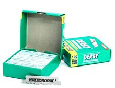 2 X DERBY PROFESSIONAL SINGLE EDGE RAZOR BLADES x 200 PIECES (2 BOXES)