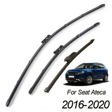 Set of 3 Windshield Wiper Blades Kit Front Rear Set For Seat Ateca 2016-2020