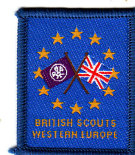 Boy Scout Badge Ext bound BRITISH SCOUTS WESTERN EUROPE County