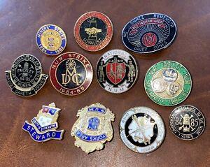 Vintage Coal Miners Badge Collection NUM / STRIKE interest 11 Badges In Total