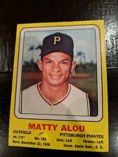 1969 Transogram MATTY ALOU vintage baseball card - Hand cut, blank back rare