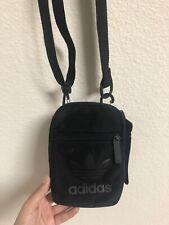adidas Originals Trefoil Festival Crossbody Bag, Black/Black, Unisex, 007