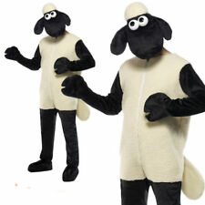 Adults Shaun The Sheep Costume Mens Licensed Farm Animal Fancy Dress