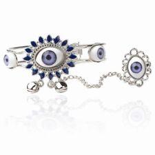 Mystic Eye Blue Crystal Bracelet & Ring
