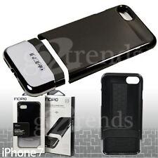 "INCIPIO Edge CHROME Slim SHOCKPROOF Hard Case for iPhone 7 (4.7"") Slick BLACK"