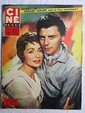 CINE REVUE 46 (1957) COUVERTURE GERARD PHILIPPE LILLI PALMER