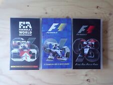 Formula 1 Season Review VHS Video Tape Bundle - 1986, 1996 & 1998 F1 Motorsport